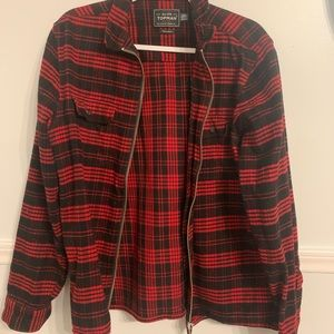 Top Man Plaid Over-shirt/ Jacket